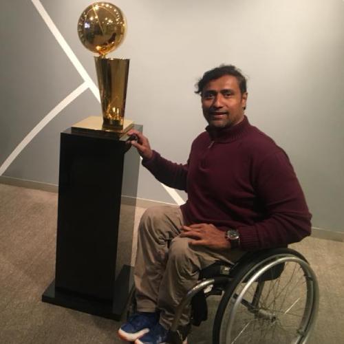 Jignesh Vaidya in his wheelchair